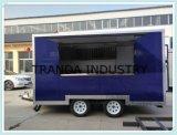 Equipmentshot犬のカートのキャンプの可動装置ヴァンの調理を用いる可動装置2の車軸台所トレーラー