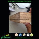 Contrachapado de suelo de contenedor con núcleo de madera dura, pegamento fenólico