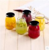 プディング、蜂蜜、込み合い、食糧瓶のための小型記憶のガラスビン