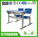 Silla de escritorio doble plástica de la escuela durable del diseño simple fijada (SF-13D)