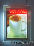 Kristal Light Box met LED Message (mdclb-A4)