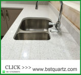 20mm 30mm Weiß-Galaxie-Quarz-SteinCountertop