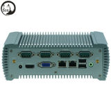 Intel N2600 удваивает PC промышленного Fanless сердечника Linux C.P.U. миниый с WiFi для LAN 2