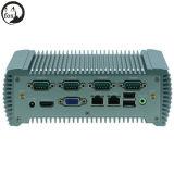 Van Intel N2600 Dubbele Industriële Fanless Linux MiniPC van de Kern cpu met WiFi voor LAN 2