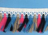 Красочные Tassel челкой кружева для создания женских одежды