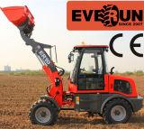 Everun 아주 새로운 디자인 1 톤 조정가능한 깔판 포크를 가진 소형 프런트 엔드 바퀴 로더