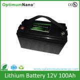 태양 가벼운 건전지 12V 100ah LiFePO4 리튬 건전지