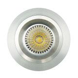 선반 알루미늄 GU10 MR16 둥근 조정 중단된 LED 램프 Downlight (LT2108)