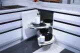 Hoog polijst de L-vormige Keukenkast van de Lak met de Kast van het Eiland van de Luxe