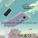 indicatore luminoso di via solare Integrated di prezzi più bassi 15W con l'alta qualità
