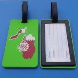 カタールのフラグ柔らかいPVC荷物の札の走行の荷物の札