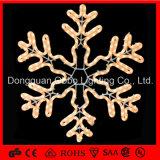 Luz al aire libre impermeable del copo de nieve del adorno de la decoración LED