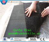 Azulejo de suelo de goma, estera antirresbaladiza del suelo, azulejos de suelo de goma antirresbaladizos, azulejo de goma al aire libre de goma de los azulejos de suelo del patio