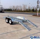 Rampa de carregamento ajustável do reboque dobro do carro do eixo (SWT-CT146)