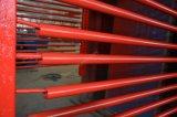 Restes explosifs des guerres tuyau sans soudure en acier avec la peinture rouge cannelé