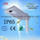 15 Вт мощности солнечной энергии все-в-одном Водонепроницаемый светодиодный индикатор на улице