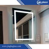 Miroir rétro-éclairé à LED miroir argent avec forme rectangulaire
