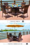 海岸の高いハンドメイドの藤の椅子