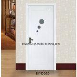 Mordenガラスが付いている白いMDFの木の寝室PVCドア