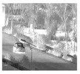 手段によって取付けられる赤外線熱探知カメラ