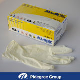 Beige wegwerfbare Nitril-Prüfung-Handschuhe