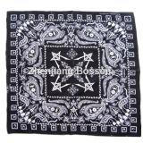 Soem-Erzeugnis kundenspezifischer Auslegung-Zeichen-Schädel gedruckter BaumwolleHeadwear Bandana