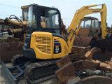 Excavatrice Komatsu PC55mr Mini Digger d'occasion avec Chenille en caoutchouc