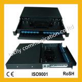 """Standard 19 di Sc/FC/St """" quadro d'interconnessione ottico Port della fibra dello Sc di 8 memorie (ODF)"""
