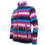 カラー完全なジッパーのカチオンの染められたMicrofleeceのジャケットをステッチしている子供