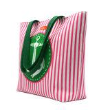 卸し売り帆立貝パターンポリエステル浜のハンドバッグ旅行袋のキャンバスの戦闘状況表示板の女性袋