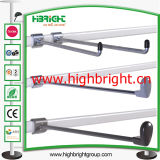 Steel Tube Metal Hanging Bar Steel Bar Holder para prateleiras