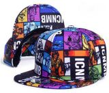 Custom 100% Polyester Printing Snapback Hat with Flat Brim