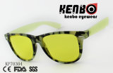 Classical Sunglasses with PAPER Pattern Transfered Frame Kp70304