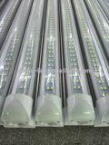 Riga elencata luminosa dell'UL la doppia ha integrato l'indicatore luminoso Ckear/coperchio Stripy del tubo di 2.4m 8FT 60W T8 LED