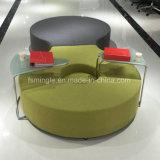 Sofà moderno del tessuto del blocco per grafici del metallo di svago dell'ufficio della mobilia