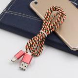 Trenzado de coloridos cable de datos USB para el tipo de accesorios para teléfonos móviles C