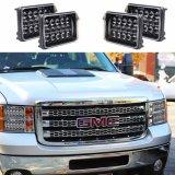 卸し売りDRLのヘッドライト5Dの長方形のJeep Cherokee Xj Yjのための正方形によって密封されるビーム45W 4X6 LEDヘッドライトはKenworthをトラックで運ぶ
