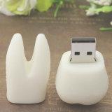 RoHS 연약한 PVC 이 모양 USB 플래시 디스크 주문 로고 Pendrive 4GB