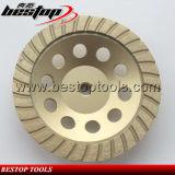 резьба колеса M14 чашки камня 7inch Turbo сваренная серебром меля