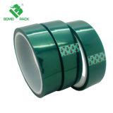 La alta temperatura Pet cara verde cinta autoadhesiva de cinta de silicona