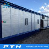 Flachgehäuse-modulares Behälter-Haus als lebendes Hauptprojekt