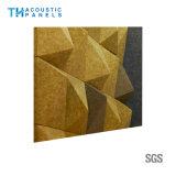Panneau acoustique décoratif intérieur amical du mur 3D de fibre de polyester d'Eco