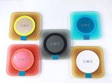 무지개 다채로운 무선 비용을 부과 패드 둥근 무선 충전기