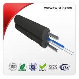 1 ou 2 câble à fibre optique de base/ FTTH drop câble métallique
