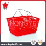 Panier à provisions en plastique personnalisé de supermarché de logo