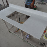 Customizd Artificial Stone Countertop Double Sink Vanity do banheiro