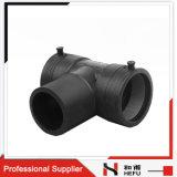 Plastique noir de type Y PE La réduction de la plomberie du raccord de tuyau Raccord en T
