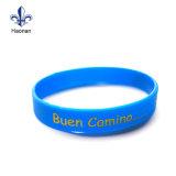 Bracelet bon marché fait sur commande promotionnel en caoutchouc de lueur de Wristband/de silicones de Debossed
