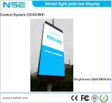 Decorazione esterna LED che fa pubblicità a Lightbox in pali chiari