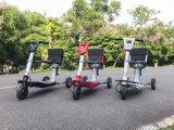 """Três rodas ao ar livre do lazer 2017 que dobra o """"trotinette"""" elétrico da mobilidade"""